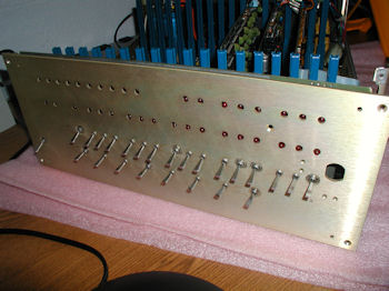 MITS Altair 8800b front panel with cover removed