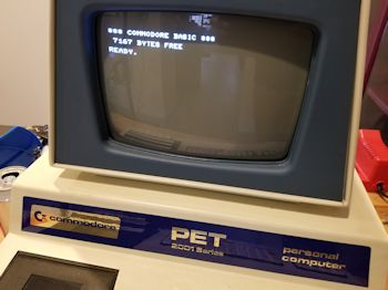 Commodore PET 2001-8 screen warble repair