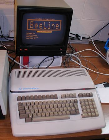 Commodore B500 running BeeLine RS232 Communications software