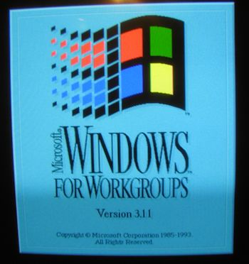 Windows 3.11 Opening Screen