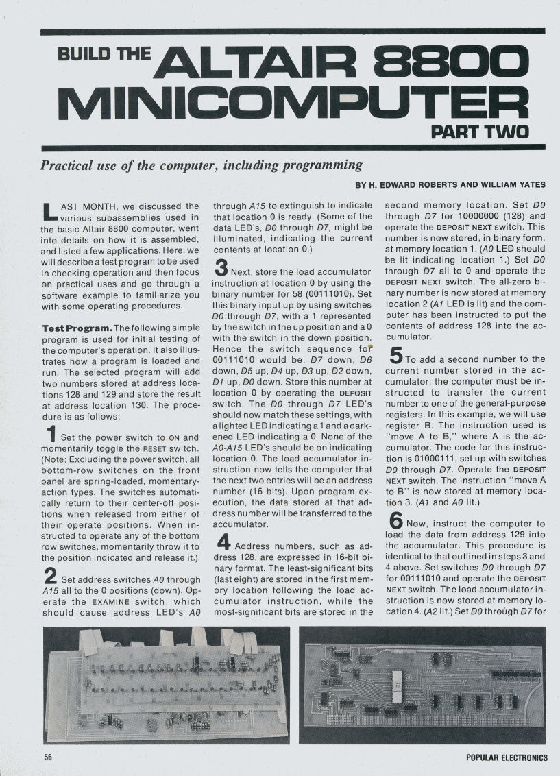 Popular Electronics January 1975 And February Free Electronic Circuits 8085 Projects Blog Archive Puter Page 56