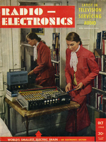 Radio-Electronics October 1950 Front Cover