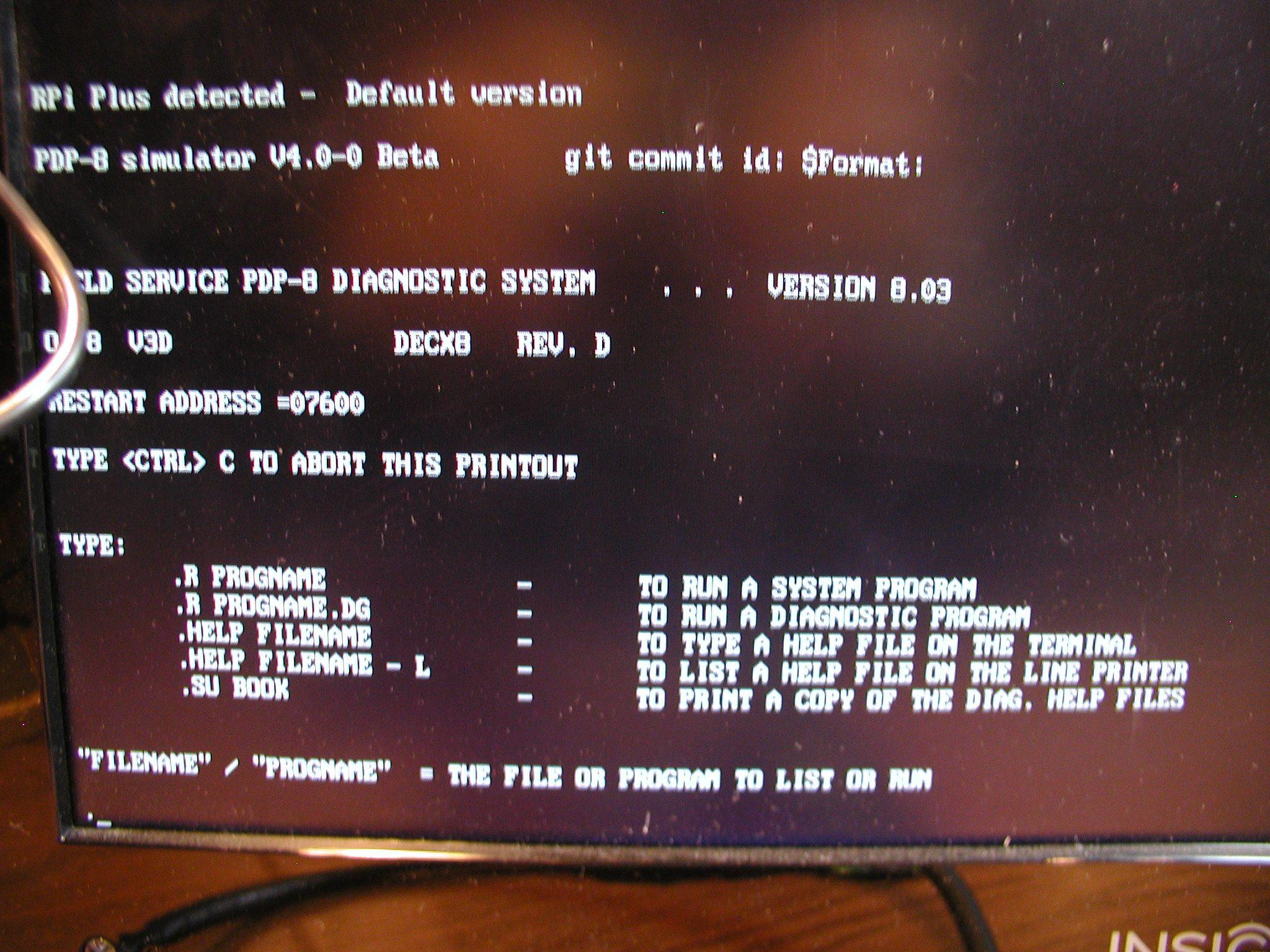Raspberry Pi PiDP8 Emulator rev 2015